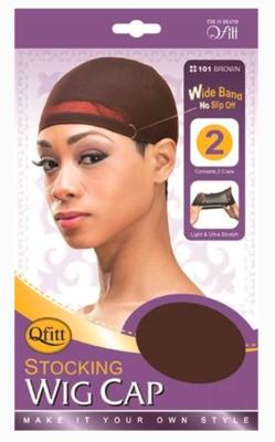 Brown Stocking Wig Cap