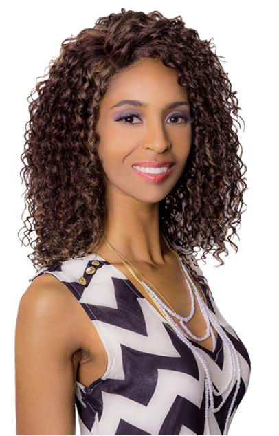 Biba Genuine Carmen Wig Deep Part Lace Ebony