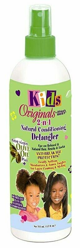 Africas Best Kids Orig 2-N-1 Detangler 12 Ounce