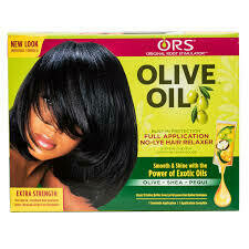 ORS Olive Oil Built -In Protection No-lye Hair Relaxer Kit Extra Strength 1 Application