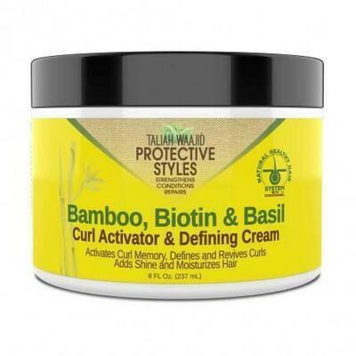Taliah Waajid Protective Styles Bamboo, Biotin, Basil Curl Activator