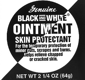 Genuine Black And White Ointment Skin Protectant 2.25oz