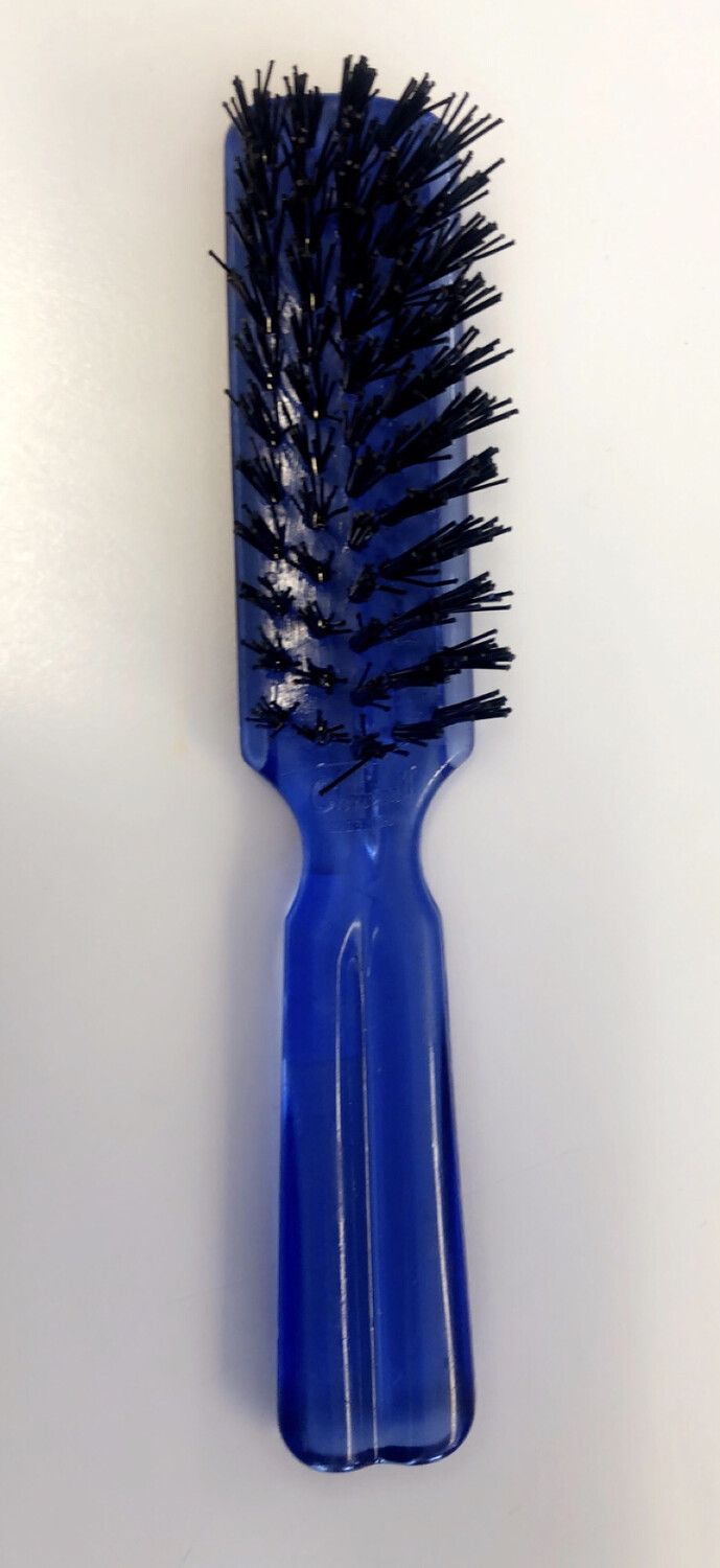 Hair Brush Transparent Housing Assorted Clrz Plastic Handle (Small)
