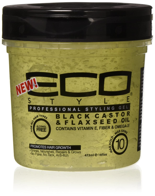 Eco Style Gel Black Caster & Flaxseed Oil 16oz
