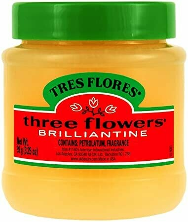 Three Flowers Brilliantine Solid, 3.25oz
