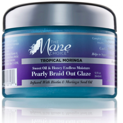 The Mane Choice Tropical Moringa Sweet Oil & Honey Endless Moisture Pearly Braid Out Glaze