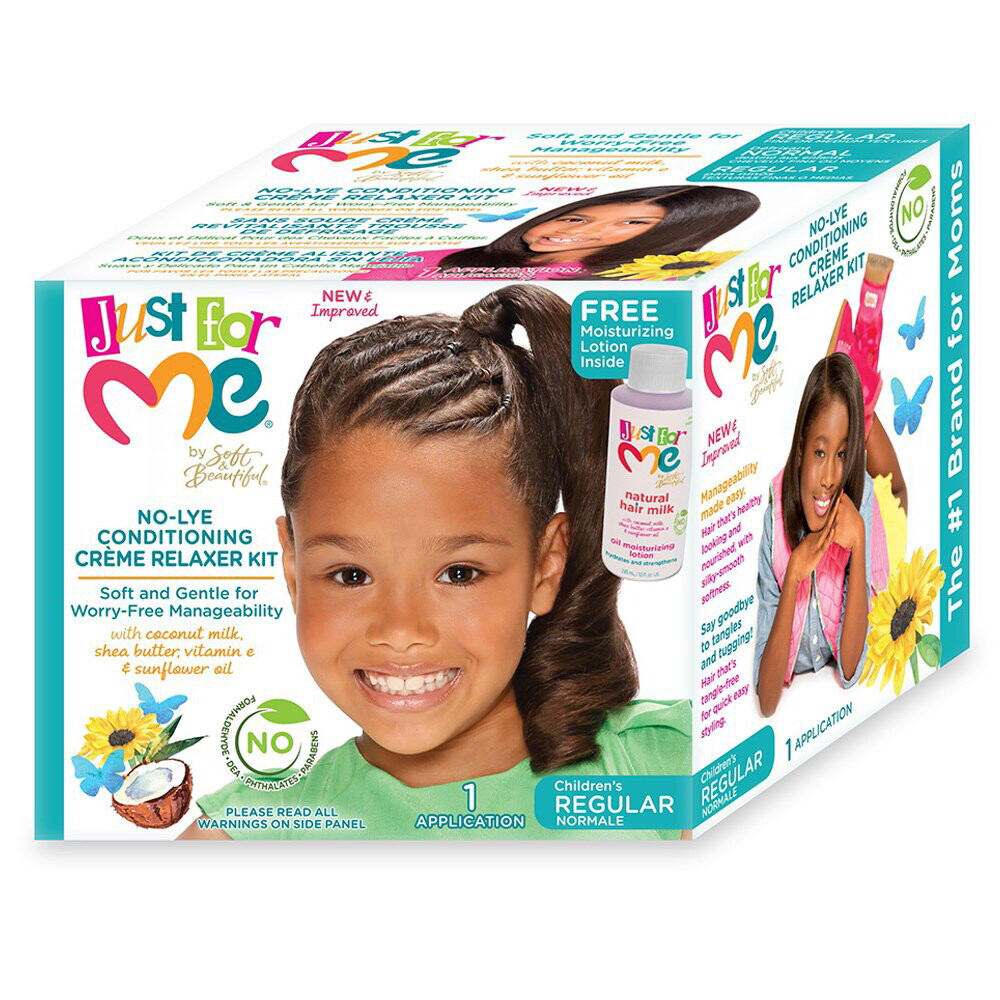 Just For Me By Soft And Beautiful No-lye Conditioning Creme Relaxer Kit For Children