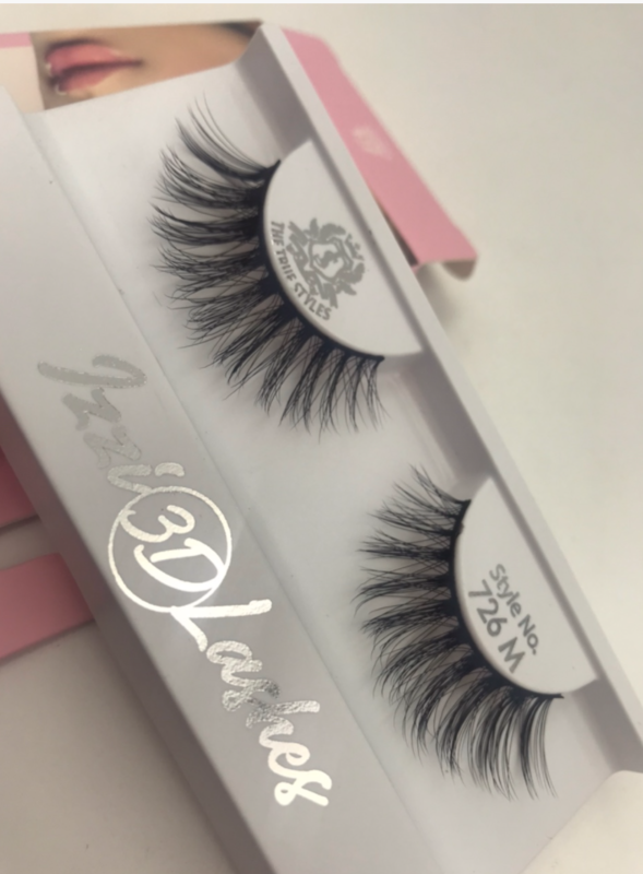 The True Styles Izzi Luxury 3D Lashes Premium Remy Hair/Faux Remy Hairs