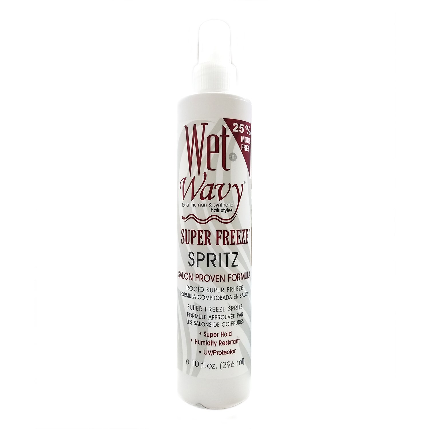 Wet n Wavy Synthetic And Natural Hair Waves Super freezeSpritz 10oz