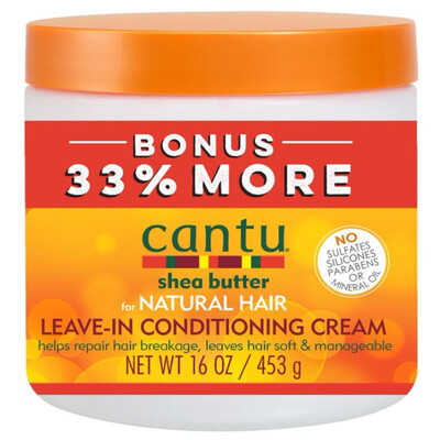 Cantu Shea Butter Leave In Conditioning Cream For Natural Hair 16oz