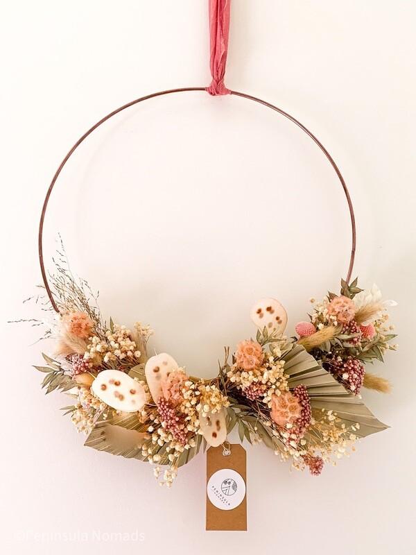 Dried Flower Hoop lulu