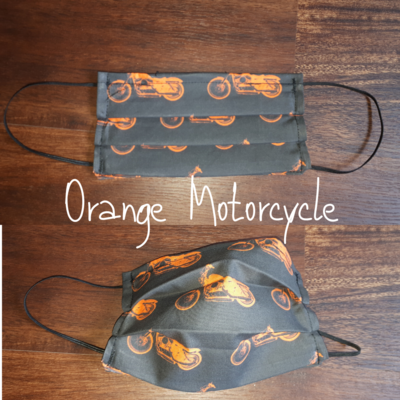 Orange Motorcycle - Homemade Double layer Masks with filter slot