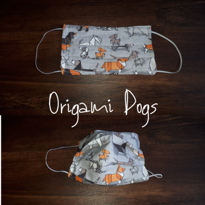 Origami Dog - Homemade Double layer Masks with filter slot