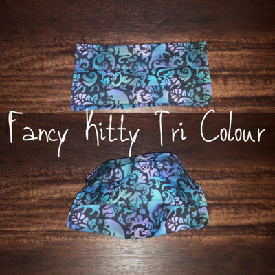 Fancy Kitty Tri Colour - Homemade Double layer Masks with filter slot
