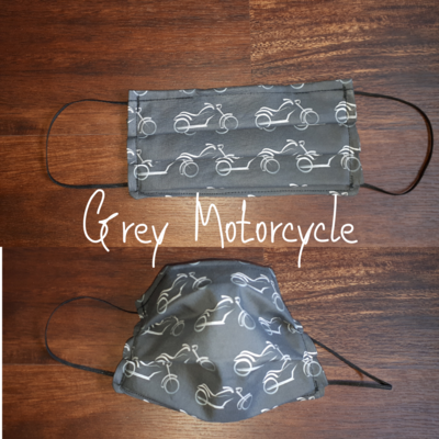 Grey Motorcycle - Homemade Double layer Masks with filter slot