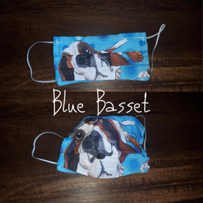 Blue Basset - Homemade Double layer Masks with filter slot