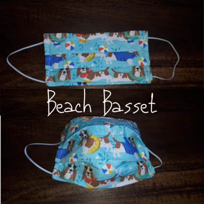 Beach Basset - Homemade Double layer Masks with filter slot