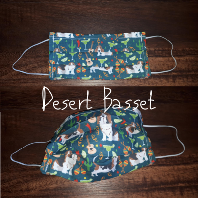 Desert Basset - Homemade Double layer Masks with filter slot