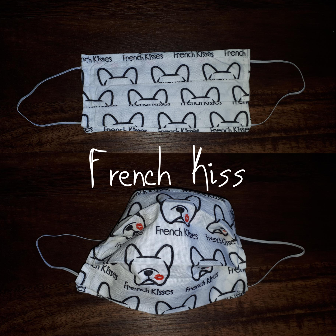 French Kiss - Homemade Double layer Masks with filter slot