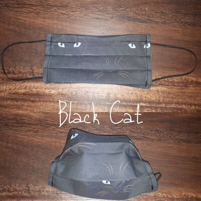 Black Cat - Homemade Double layer Masks with filter slot