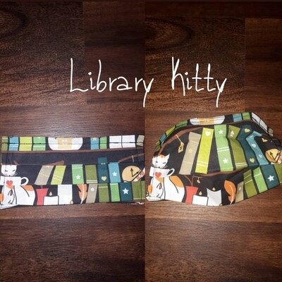 Library Kitty - Homemade Double layer Masks with filter slot