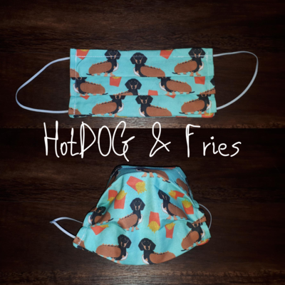 HotDOG & Fries - Homemade Double layer Masks with filter slot