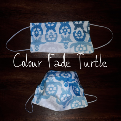 Colour Fade Turtles - Homemade Double layer Masks with filter slot