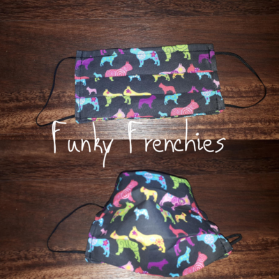 Funky Frenchies - Homemade Double layer Masks with filter slot