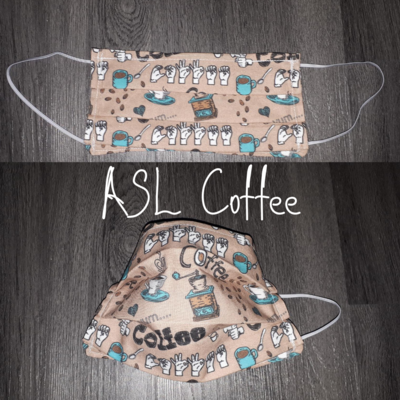 ASL Coffee- Homemade Double layer Masks with filter slot