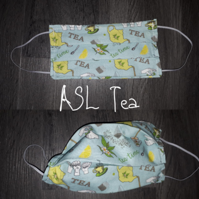 ASL Tea- Homemade Double layer Masks with filter slot