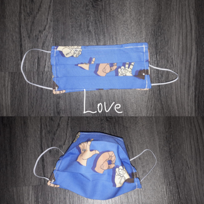 Love - Homemade Double layer Masks with filter slot