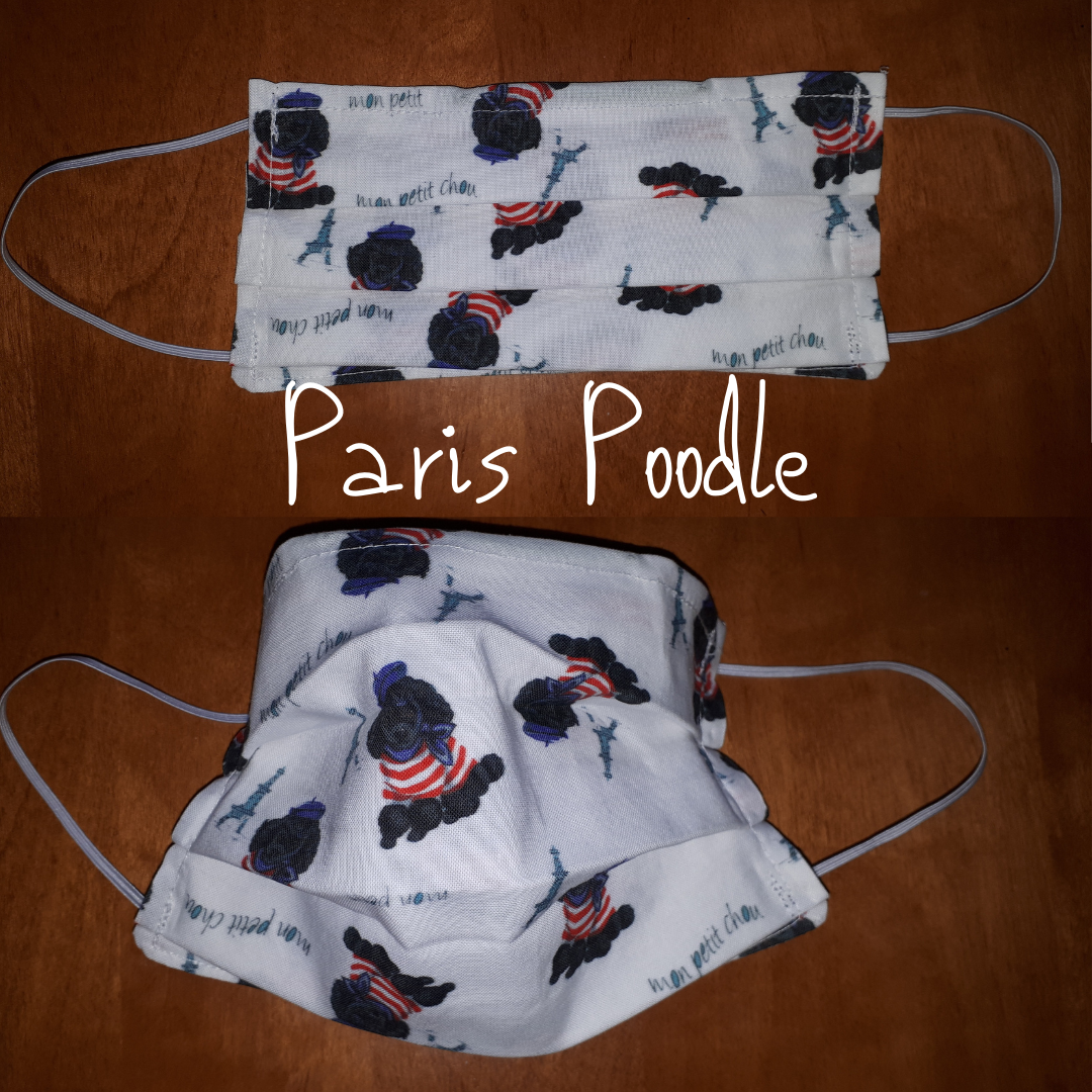 Paris Poodle- Homemade Double layer Masks with filter slot