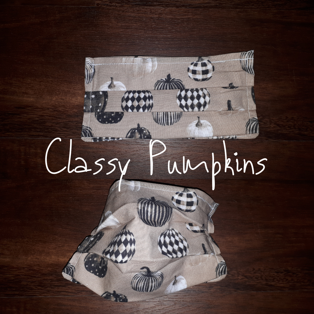 Classy Pumpkins- Homemade Double layer Masks with filter slot