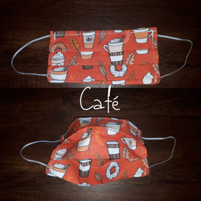 Café - Homemade Double layer Masks with filter slot