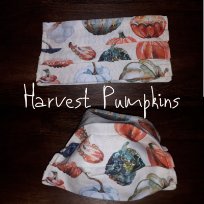 Harvest Pumpkins- Homemade Double layer Masks with filter slot