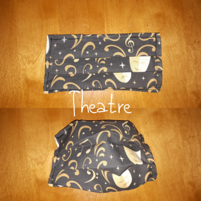 Theatre - Homemade Double layer Masks with filter slot