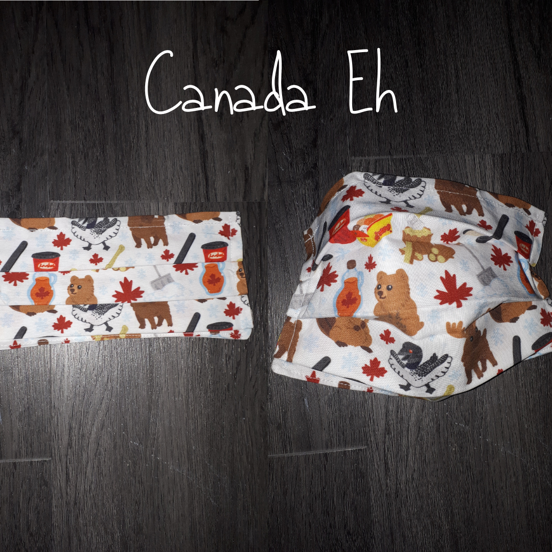 Canada Eh! - Homemade Double layer Masks with filter slot
