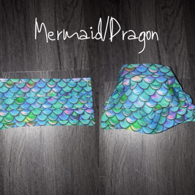 Mermaid/Dragon - Homemade Double layer Masks with filter slot