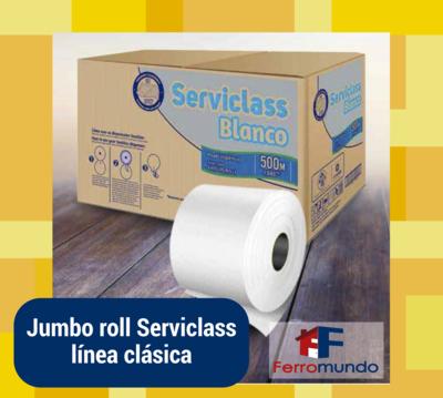 Jumbo roll papel higiénico doble hoja (caja 6 unidades)