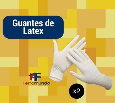 Guante de latex (2 par)