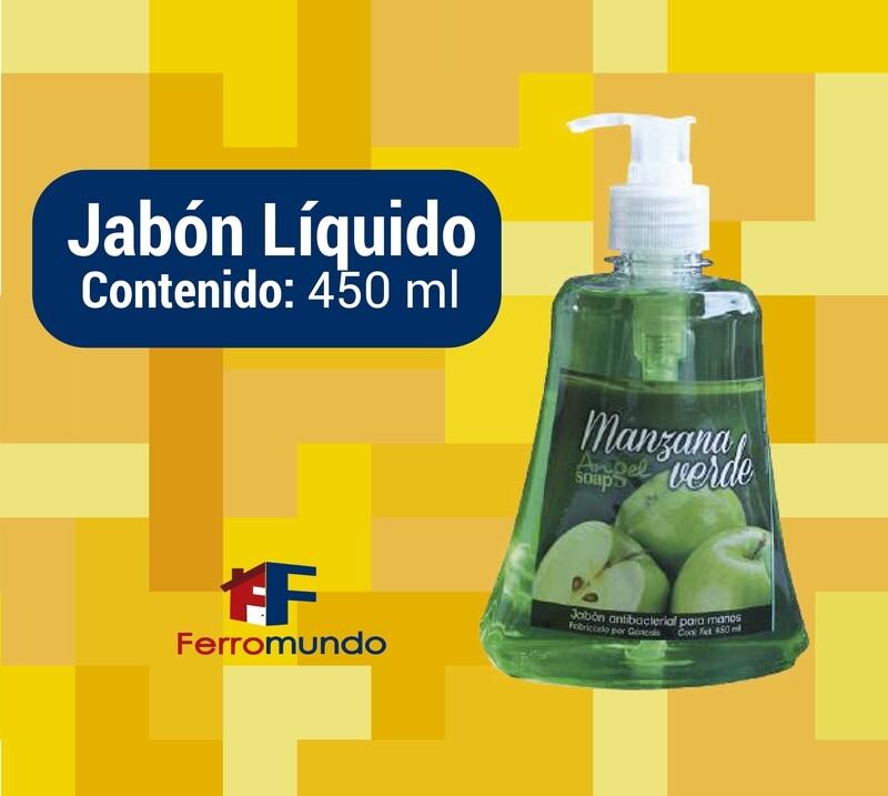 Jabon liquido 450 ml con valvula