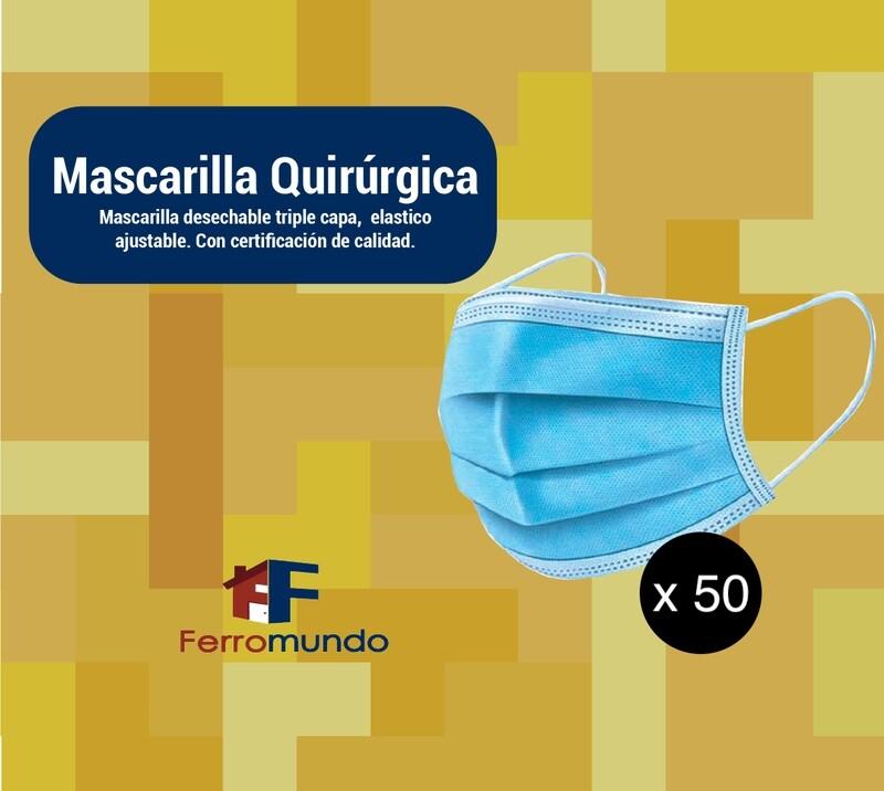 Mascarilla quirúrgica - caja 50 u.
