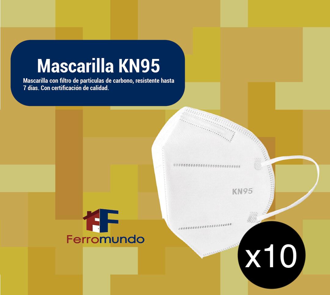 Mascarilla KN95 - paquete 10 unidades