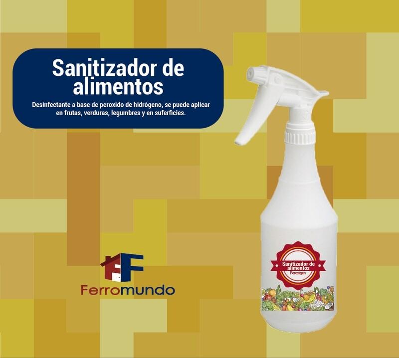 Sanitizador de alimentos Peroxigen 500 ml spray
