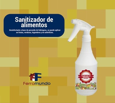 Sanitizador de alimentos Peroxigen 500 ml spray