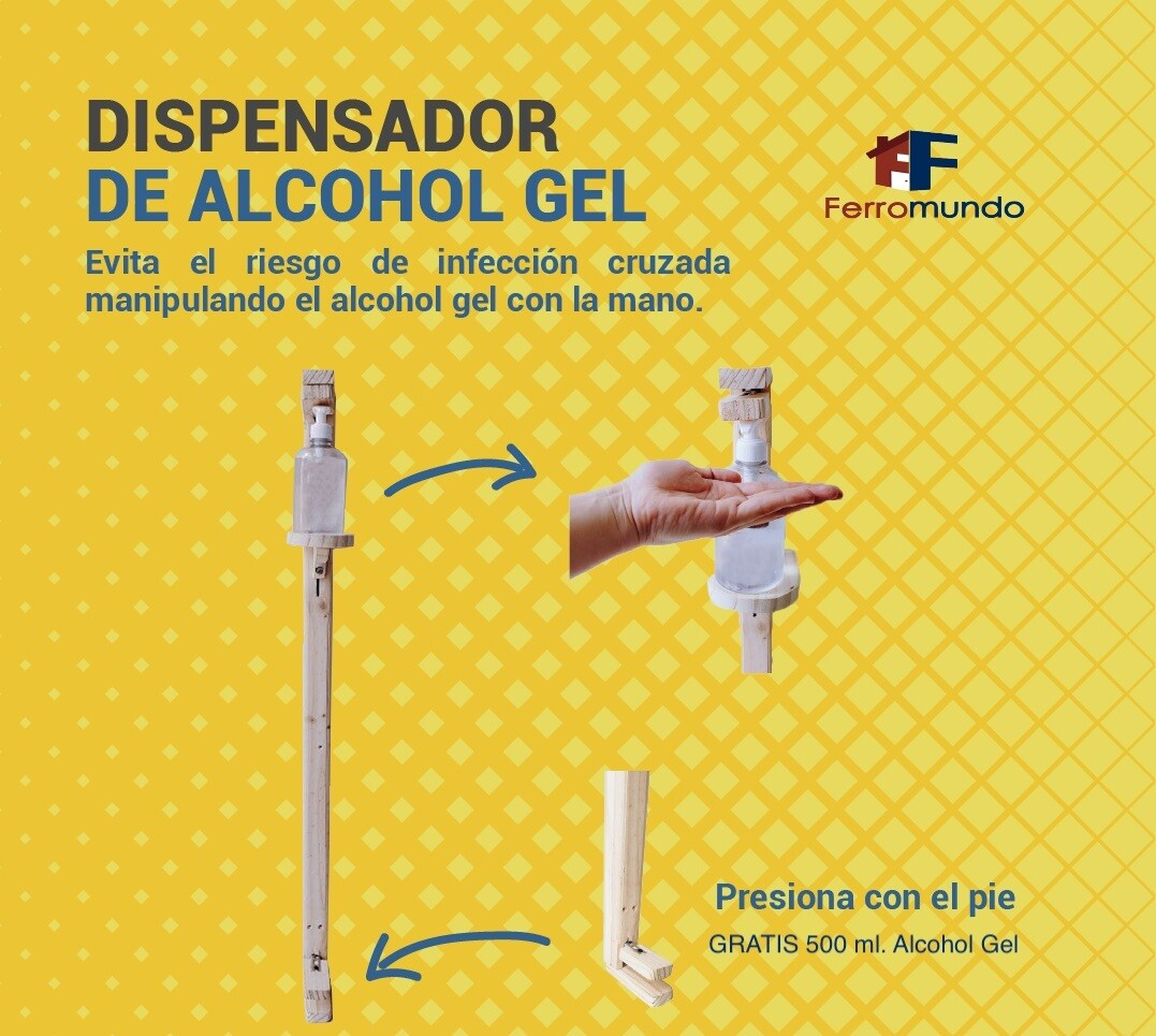 Dispensador de pedal alcohol gel