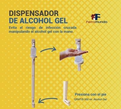 Dispensador de pedal alcohol gel