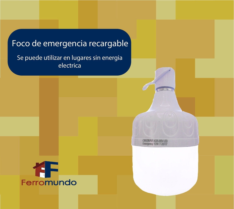 Foco de emergencia recargable 12 w.