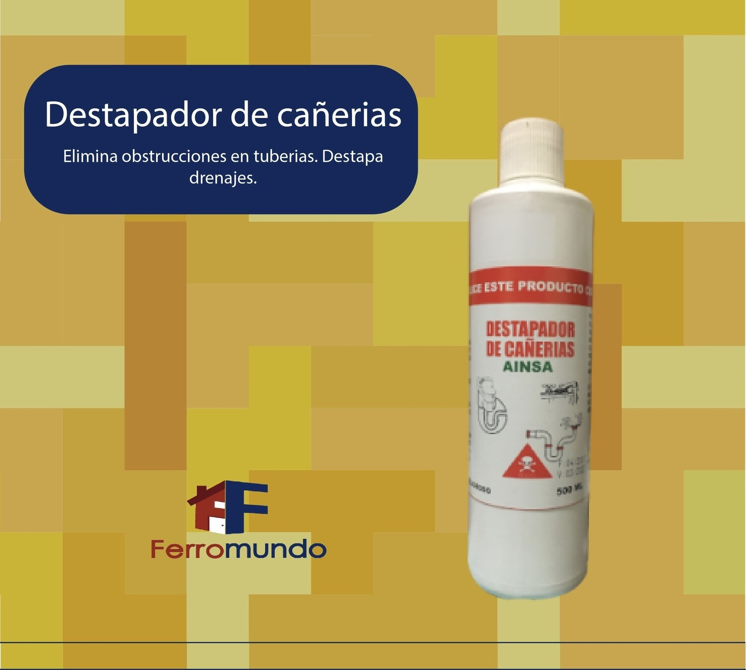 Destapador de cañerias soda caustica 500 ml.