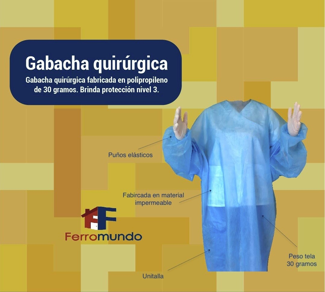 Gabacha quirúrgica desechable